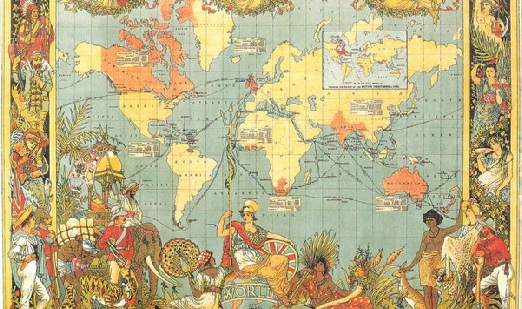 British Empire Map 1900.Territories Of The British Empire In Chronological Order